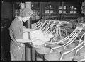 High Point, North Carolina - Textiles. Pickett Yarn Mill. Drawing - back view - semi-skilled - man at machine at... - NARA - 518506.tif