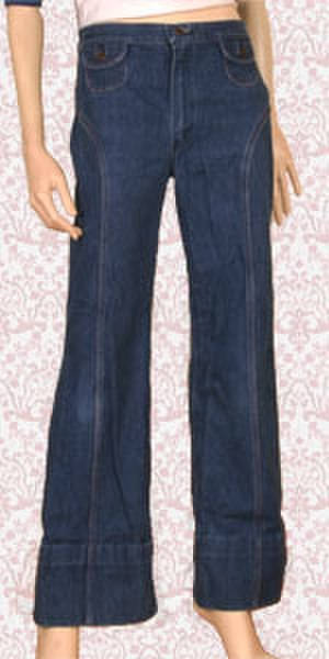 High-rise (fashion) - Image: High waisted jeans 1435042736
