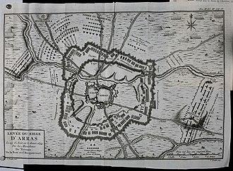 Battle of Arras (1654) - Image: Histoire du vicomte de Turenne, maréchal général des armés du roi enrichie des plans de batailles and des sièges (1771) (14593542970)