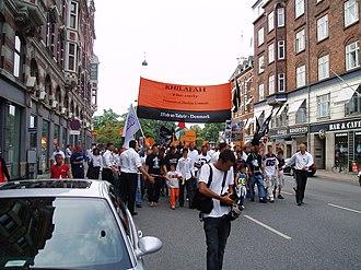 Hizb ut-Tahrir - Hizb ut-Tahrir demonstrating in Copenhagen.