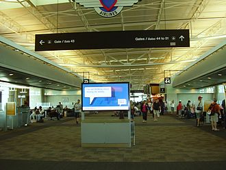 William P. Hobby Airport - The interior of the airport terminal