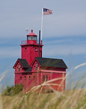 Ottawa County, Michigan - Image: Holland Harbor Light (Big Red) Holland, Michigan