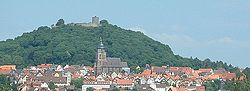 Schlossberg with the Hohenburg and Homberg's Old Town