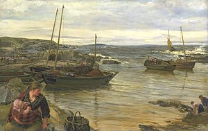 James Clarke Hook - Home with the tide (1880)