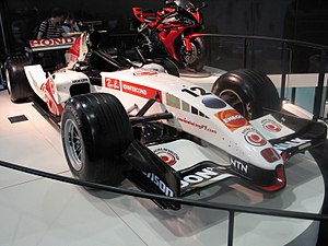 Honda 2006 RA107 F1 Race Car at British International Motor Show 2006.jpg