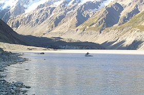 Hooker Glacier from the shores of the Hooker Lake.jpg