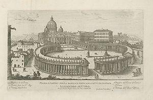 "Giovanni Battista Falda - Giovanni Battista Falda, ""Basilica Vatincana"", 1665"
