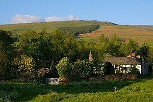 Village green - A house on a village green in Cumbria, England