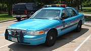 A typical Houston Police Department cruiser