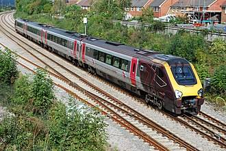 British Rail Class 220 - CrossCountry 220002 passes Charfield on a Birmingham New St-Plymouth service.