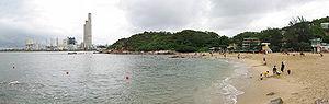 Lamma Island Power Station and Hung Shing Yeh beach