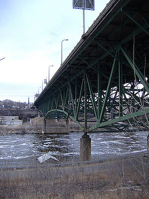 Black ice - The I-35W Mississippi River bridge seen from below in 2006