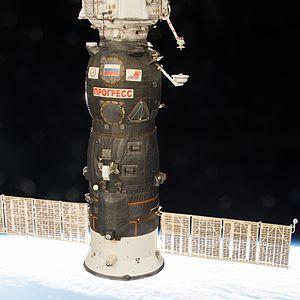 Progress MS-05 - View of Progress MS-05 docked at the ISS