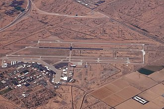 Phoenix–Mesa Gateway Airport - Image: IWA PHOENIX MESA GATEWAY AIRPORT FROM FLIGHT TUS LAS 737 N748SW (10463774723) (2)