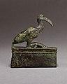 Ibis on a shrine shaped box, probably for an animal mummy MET 04.2.460 EGDP014645.jpg