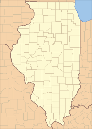 Lincoln Log Cabin State Historic Site - Image: Illinois Locator Map