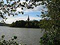 Image-Lithuania Lentvaris Lake and Palace.jpg