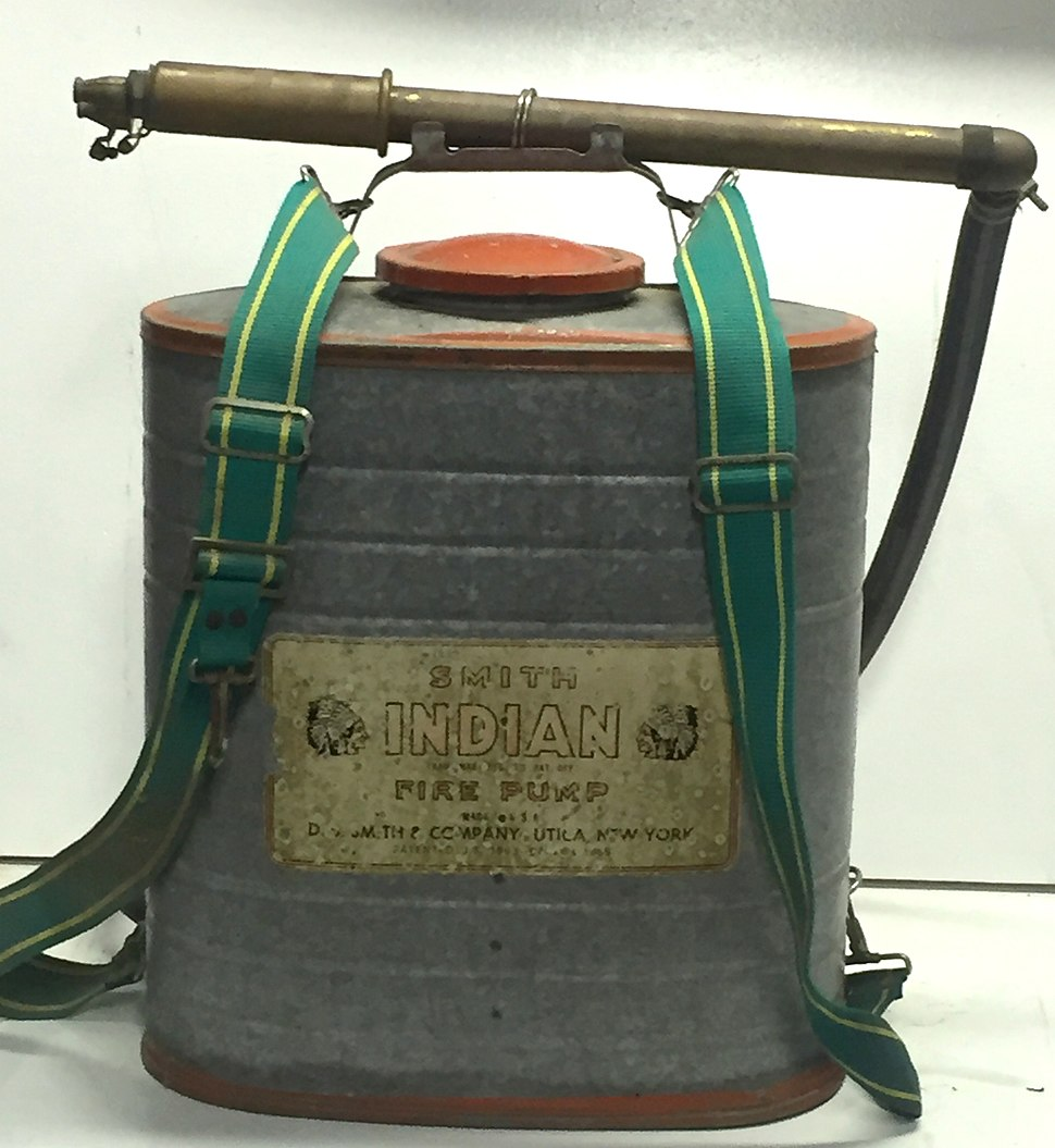 Indian 5-gal. backpack pump tank for wildland firefighting