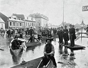 Chaboillez Square - Flooding in 1886.