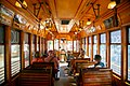 Interior of a historic streetcar, Ybor City, Tampa, Florida.jpg