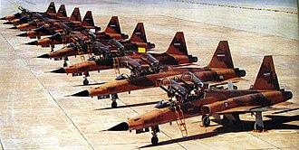 Iraqi invasion of Iran (1980) - Iranian Northrop F-5 during Iran-Iraq war