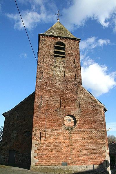 Irchonwelz  (Belgium), the Saint Denis' church.