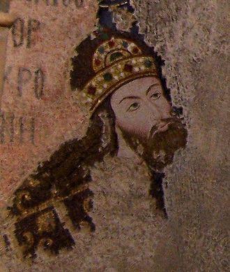 Isaac Komnenos (son of Alexios I) - Mosaic of Isaac Komnenos the porphyrogennetos from the Chora Church