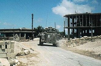 1982 Lebanon War - Israeli troops in south Lebanon