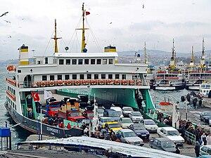 Ferry - A typical car ferry in Istanbul, Turkey
