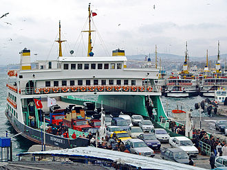 Ferry - A typical car ferry in Istanbul, Turkey