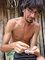 Italian anthropologist Maurizio Alì while fieldworing with Kuna Tule indigenous communities in San Blas, Panama.jpg