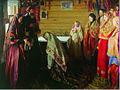 Ivan Kulikov Ancient rite of blessing the bride in Murom 1909.jpg