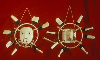 Ivory trade - Ceremonial ivory masks produced by Yupik in Alaska