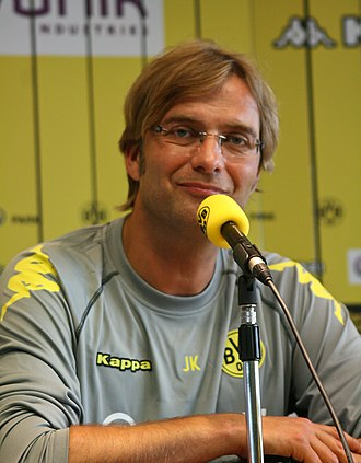 Jürgen Klopp - Klopp at a press conference ahead of Dortmund's title-winning 2010–11 season.