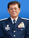 JASDF General Harukazu Saitoh 齊藤治和空将 (USAF Photo 121203-F-ZI558-001 International Honor Roll inductees group).jpg
