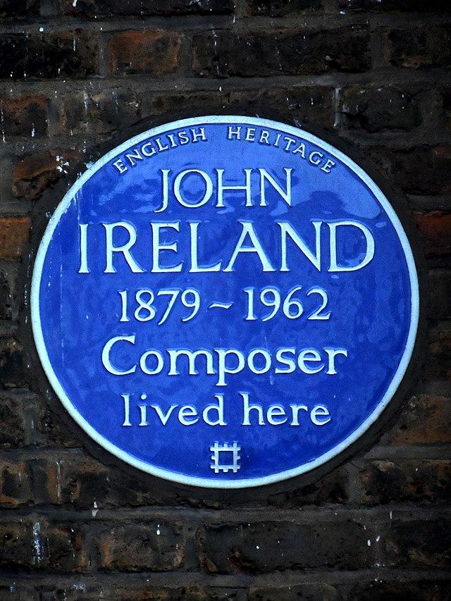 John Ireland blue plaque - John Ireland 1879-1962 composer lived here
