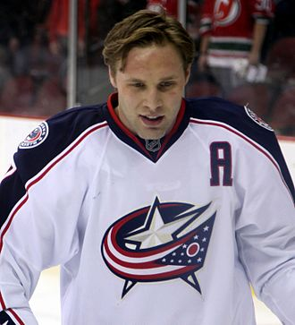 Jack Johnson (ice hockey) - Johnson playing for the Columbus Blue Jackets in 2013.
