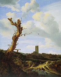 Jacob van Ruisdael - View of Egmond aan Zee 1648.jpg
