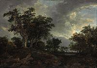 Jacob van Ruisdael - Wooded Landscape with a Pond - d5403335a.jpg