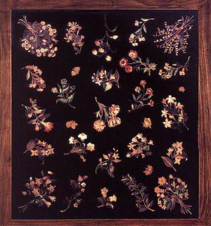 Jacopo Ligozzi - Image: Jacopo Ligozzi Model for a pietre dure table top WGA13015