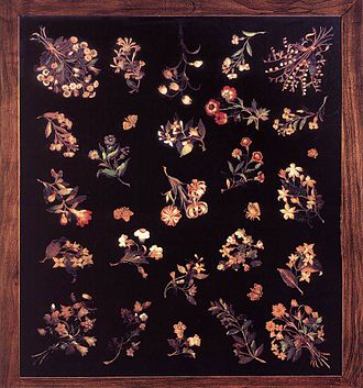 Jacopo Ligozzi - Image: Jacopo Ligozzi Model for a pietre dure table top WGA13015