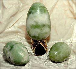 Jade eggs are common implements in vaginal weightlifting.