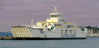 Jadrolinija - The Jadrolinija ferry MF Supetar in Split harbour