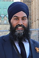 Jagmeet Singh Jagmeet Singh at the 2nd National Bike Summit - Ottawa - 2018 (42481105871) (cropped v2).jpg