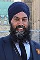 Jagmeet Singh at the 2nd National Bike Summit - Ottawa - 2018 (42481105871) (cropped v2).jpg