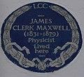 James Clerk Maxwell 16 Palace Gardens Terrace blue plaque.jpg