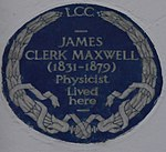 James Clerk Maxwell 16 Palace Gardens Terrace blue plaque.jpg