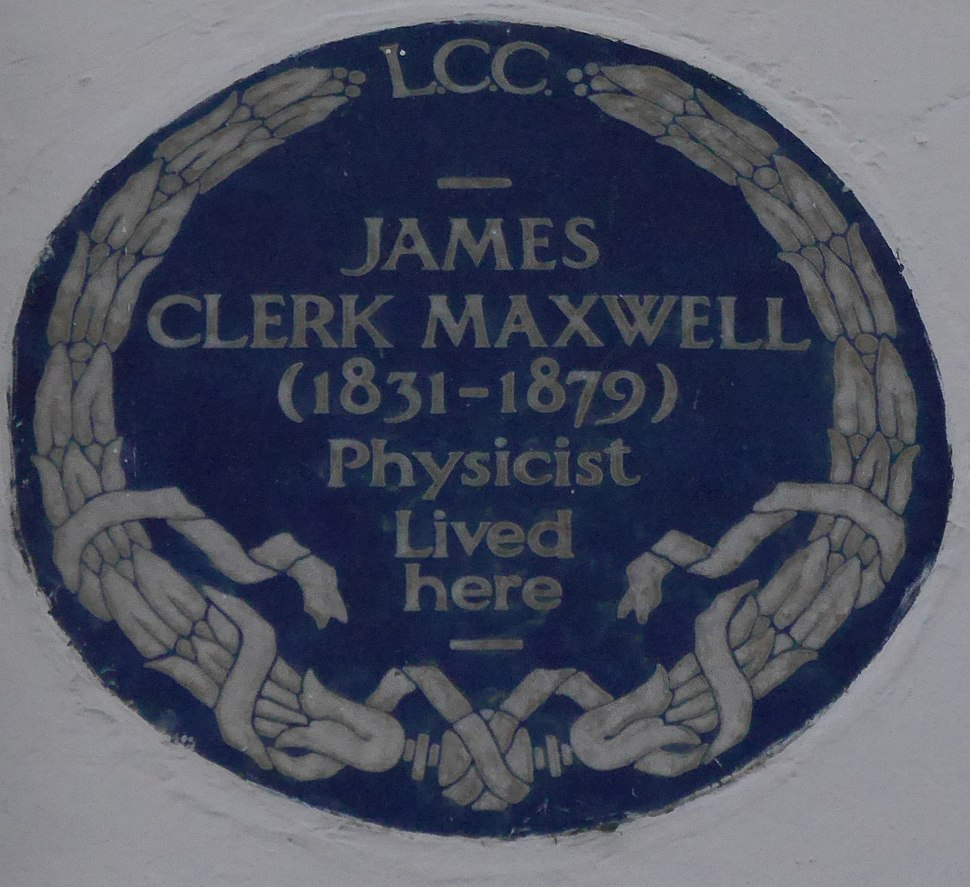 James Clerk Maxwell 16 Palace Gardens Terrace blue plaque