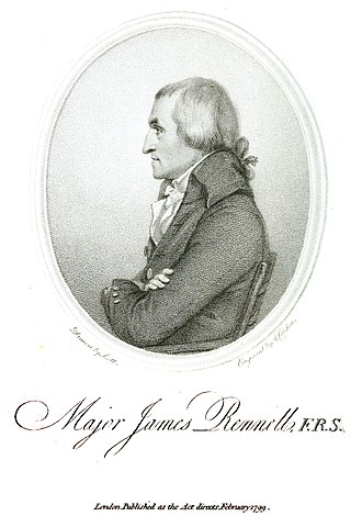 James Rennell - Profile engraving of James Rennell (1799)