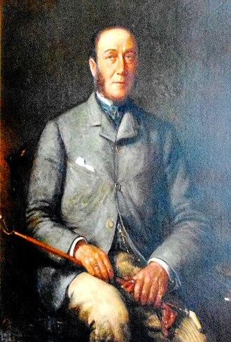 James Roosevelt I - Painting of James Roosevelt at Springwood Estate in Hyde Park, New York